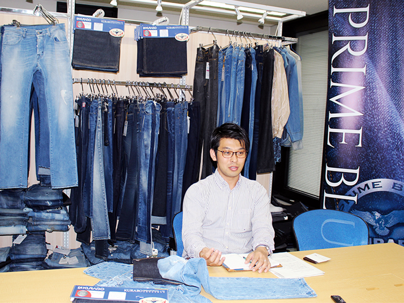 The interview file #1.  Mitsuo Nakano who is flying around the world for fabric promotion.